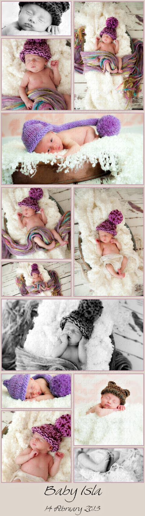 Newborn Baby Photography Cardiff - pictures of baby Isla at 16 days old.